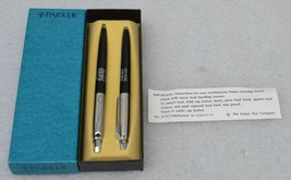 Parker Fountain Pen And Mechanical Pencil With Box Rust - Oleum Stops Rust - $205.69