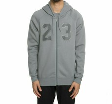Nike Men's Jordan Flight Fleece Full Zip Hoodie  NEW AUTHENTIC Grey AJ63... - $49.49