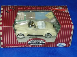 Gearbox Ford 1940 Chain Driven Pedal Car 1:18 Deluxe Coupe White - $24.70