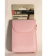 Icon leather fashion camera carrying case girly pink  - $20.16