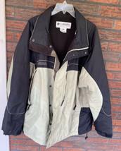 Columbia Windbreaker XL 3 Zippered Pocket Insulated Jacket Drawstring Co... - $19.00