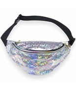 Miracu Neon Holographic Fanny Pack, 80s Cute Fashion Packs Festival Travel - £14.90 GBP+