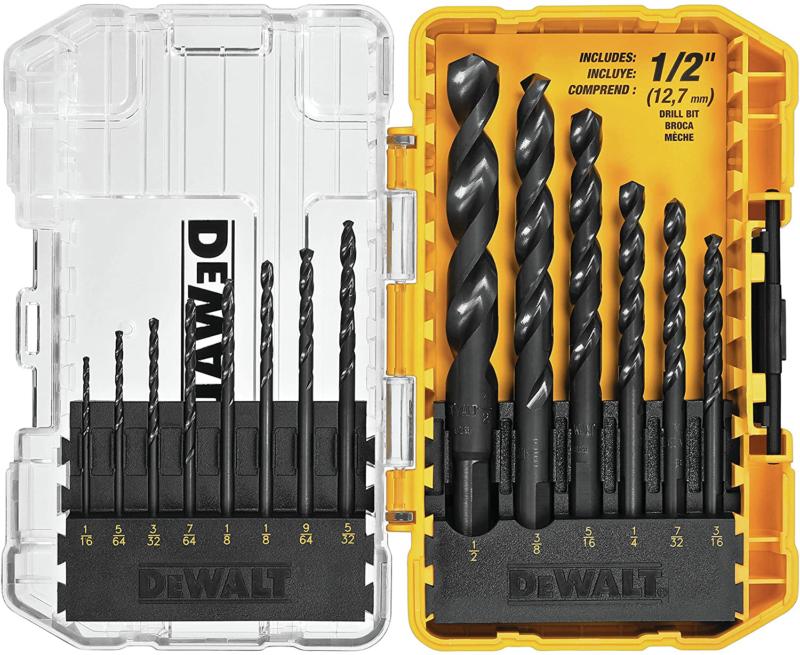DWA1184 14Piece Set Black Oxide Coated HSS Twist Drill Bit Set NEW - $17.90