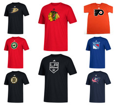 NHL Men's Primary Logo Tee Shirt adidas Short Sleeve Crew Neck T-Shirt Licensed