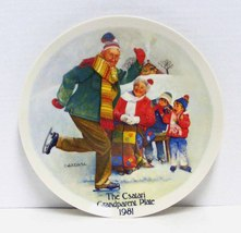 """The Csatari Grandparent Plate 1981 - """"The Skating Lesson"""" by Knowles - $14.99"""