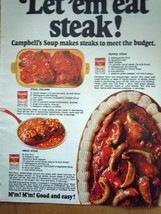Campbell's Soup Makes Steak Print Magazine Advertisement 1969 - $4.99
