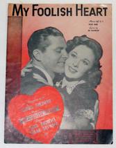 Vintage Sheet Music ~ MY FOOLISH HEART Susan Hayward Cover © 1949 - $12.99