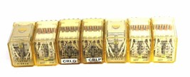 LOT OF 7 IDEC RY4S-U-DC24V RELAYS RY4SUDC24V