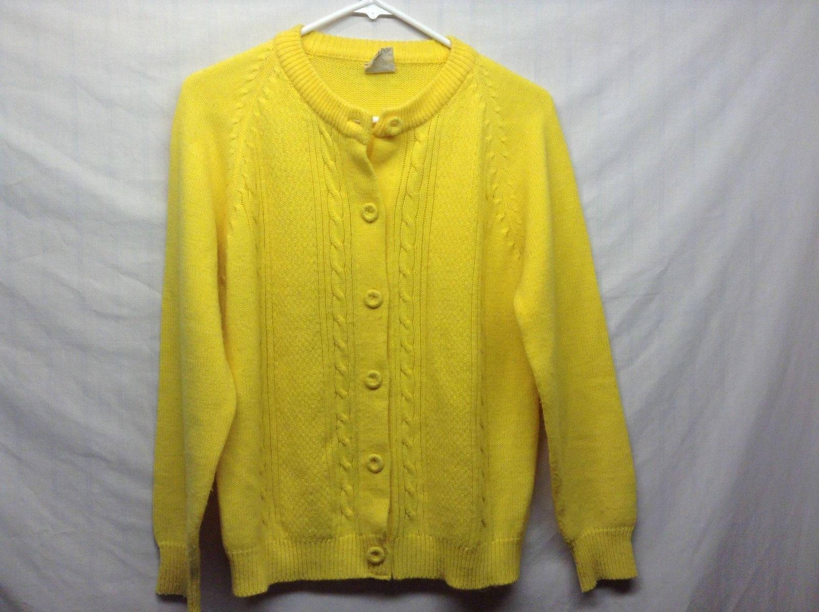 Light Weight Mustard Colored Button Up Cardigan Sz LG