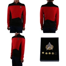Star Trek TNG Cosplay Costume Red Shirt Starfleet Operations Uniform + B... - $33.49+