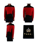 Star Trek TNG Cosplay Costume Red Shirt Starfleet Operations Uniform + B... - £26.31 GBP+