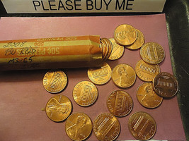 2008 Lincoln Cents Bu Reds Zinc Roll Combined Shipping - $2.48