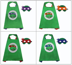 Gdreamer Enfant Tortues Ninja Masque et Casquette pour Halloween Costume... - $8.03