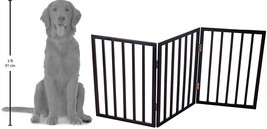 Foldable, Free-Standing Wooden Pet Gate- Light Weight, Indoor Barrier fo... - $40.61