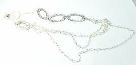 """Silpada Sterling Silver Cascading Oval Multi Chain Tiered 32"""" Necklace - $51.31"""