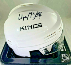 WAYNE GRETZKY / NHL HALL OF FAME / AUTOGRAPHED LOS ANGELES KINGS MINI HELMET COA image 1