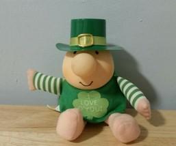 Vintage 80s Ziggy Plush Toy Saint Patricks Day Irish I Love O You Green ... - $19.34