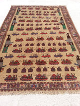 Size:9.3 ft by 6.3 ft Handmade Rug Vintage Afghan Tribal Wall Hanging Ar... - $1,200.00