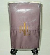 Ralph Lauren Prescott Supima Sateen 500TC Standard Pillowcase Set Plum RARE - $59.38