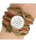 """I'm Not Crazy  "" Alice In Wonderland Quote Jewelry Glass Dome Cabochon ... - £6.64 GBP"