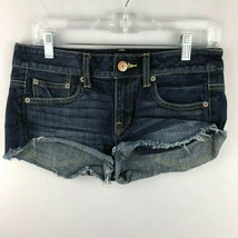 American Eagle Womens 2 Medium Wash Cut Off Jean Shorts - $25.73