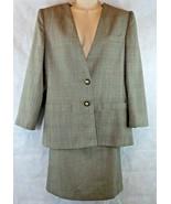 Atrium Collection Gray 2 Piece Skirt Suit Size 10 Pencil Skirt W/ Blazer... - $19.75