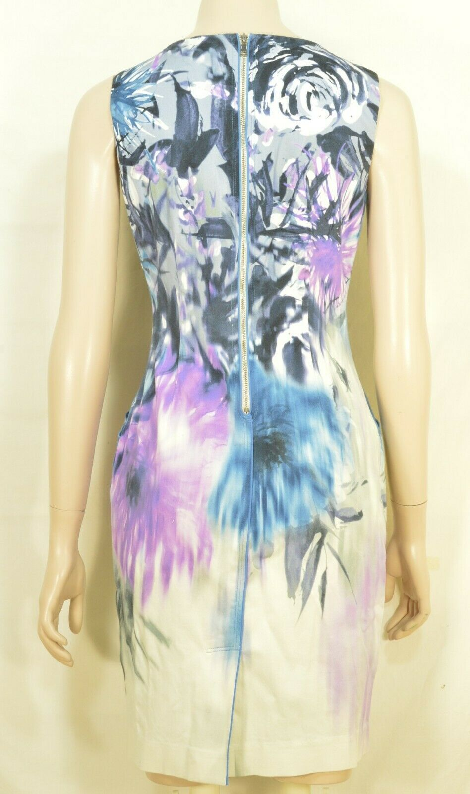 Elie Tahari dress SZ 2 LOT of 2  1 turquoise 1 floral sheath career chic lined image 10