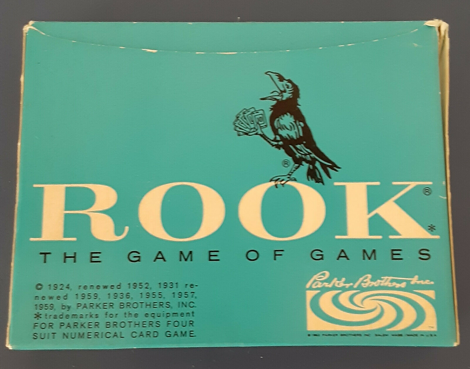 Primary image for Vintage 1959 ROOK Card Game by Parker Brothers The Game Of Games 57 Cards Book