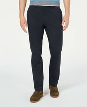 Tasso Elba Men's Luca Flat-Front Stretch Chino Pants Black Combo 36/32 $69 - $24.99