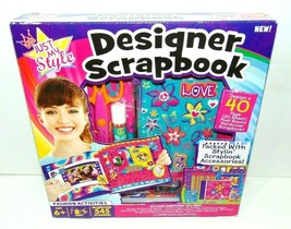Just My Style Designer Scrapbook NEW! 40 Page Post Bound Hardcover Scrap... - $9.70