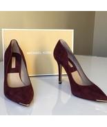Michael Kors Avra Women's High Heels Pumps Bordeaux Red Suede Size EU 37... - $98.54