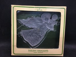 Vintage 1979 Hallmark Holiday Highlights Acrylic Angel From The Tree Tri... - $8.00