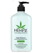 Hempz Triple Moisture Herbal Whipped Body Creme Lotion 17oz - $15.24