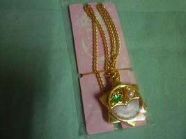 Sailor Moon Crystal Sebon necklace star watch  green gem pink pearl - $19.98