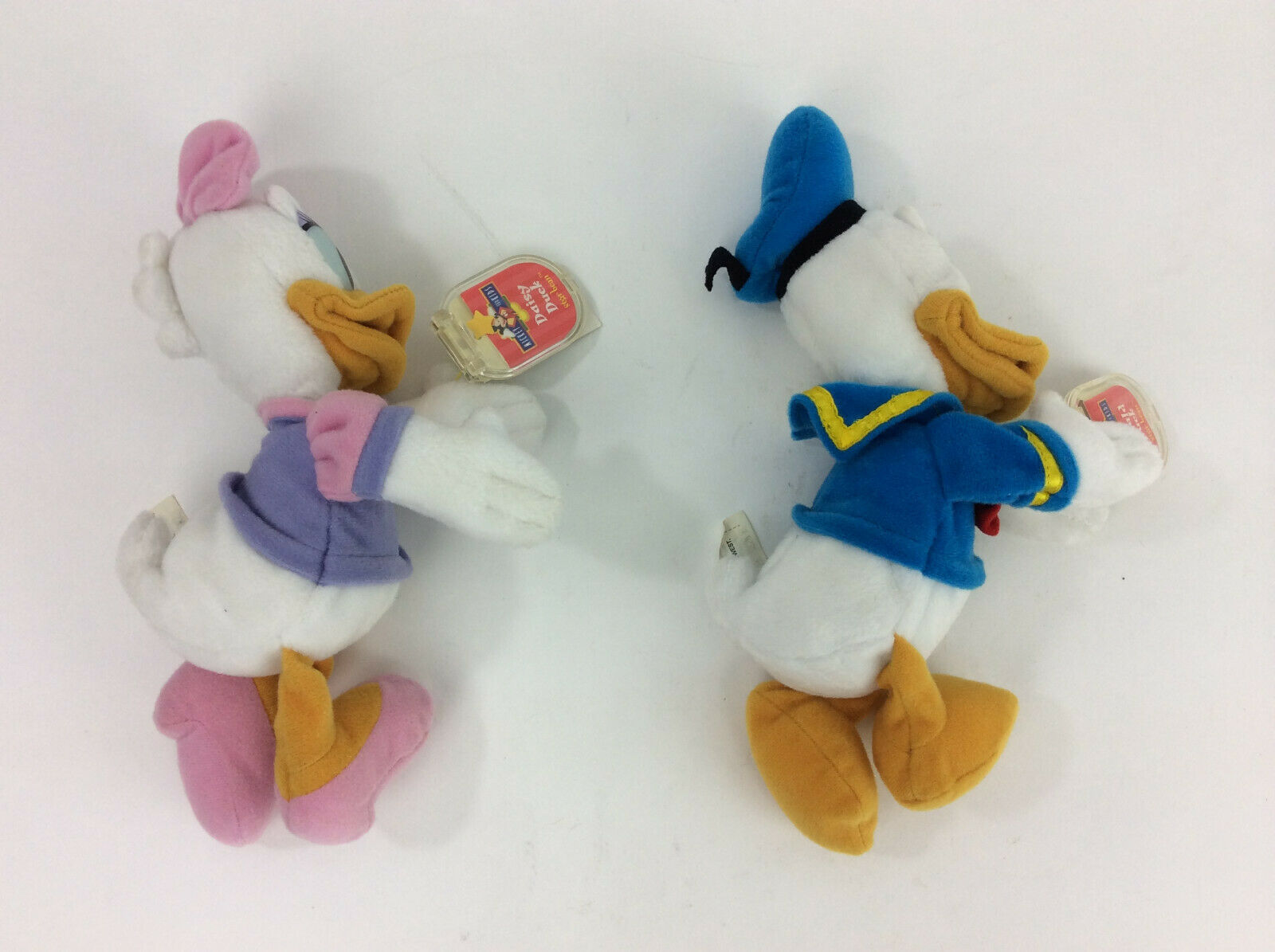 "DIsney Star Bean Donald Daisy Duck Beanbag 6"" Plush Stuffed Animal NEW"