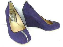 Michael Kors Wedge Heels Purple Suede Size 9.5 M Fashion Shoes - $31.04