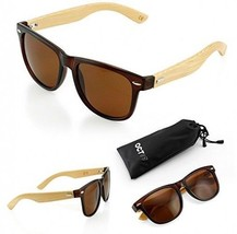 Oct 17 Wood Bamboo Wooden Vintage Sunglasses Eyewear For Mens Womens - B... - $24.12