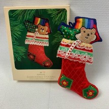 "Hallmark 1983 ""Embroidered Stocking"" Christmas Ornament In Original Box ... - $6.49"
