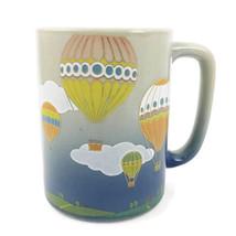 Vintage Otagiri Coffee Mug Hot Air Balloon Race Ceramic Art - Stoneware Cup - $19.54