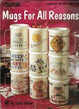 Mugs for All Reasons in Counted Cross Stitch Leisure Arts 2121 1991 - $4.99