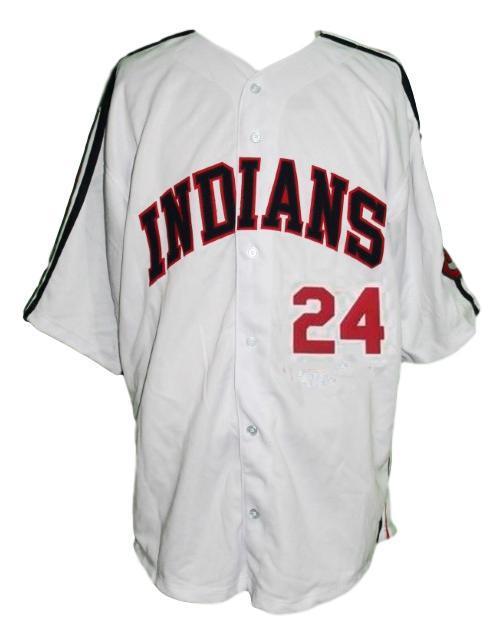 Roger dorn  24 major league movie baseball jersey white  1
