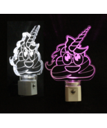 Pile of Poo Unicorn Emoji LED Night Light, Night Lights, Kids, Gift, Han... - $23.50