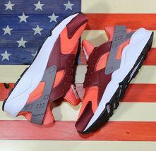 Nike Air Huarache Run Running Shoes Team Red Coral White [318429-054] Men's 11.5 image 5