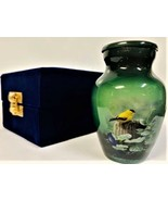 Small/Keepsake 3 Cubic Inch Goldfinch Bird Aluminum Cremation Urn for Ashes - $59.99