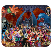 Mouse Pad Evil Villains Disney Cartoon Animation Movie For Video Game Fantasy - $9.00