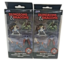 2020 Jada Lot 2 Dungeons & Dragons 4 Pack Wizards Of The Coast Drizzt El... - $12.60