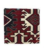 Vintage Red Wool KILIM Rug Knit Retro Indian Blanket Style Pillow Sham C... - $64.34