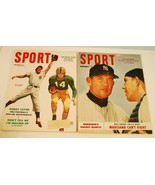 2 New York Yankee 1952-53 Covers Sport Magazine Vintage Sports - $2.96