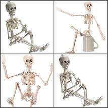 Outdoor Posable Halloween Decoration Skeleton Full Body Skeleton Movable... - $17.90