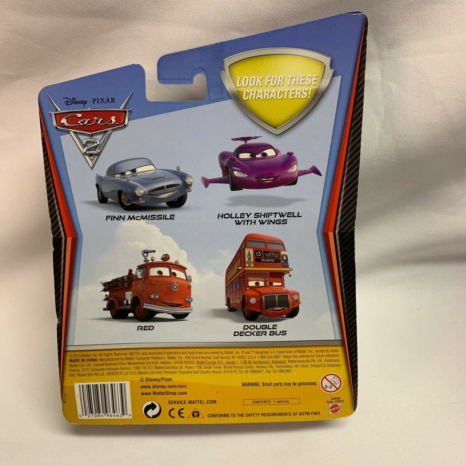 Disney Deluxe PIXAR Cars 2 RED #3 Fire Engine 2010 image 2
